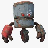bad robot pbr 3D model