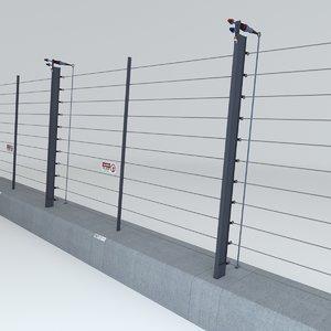 3D tyrannosaur electric fence