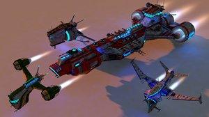 3D model spaceship package