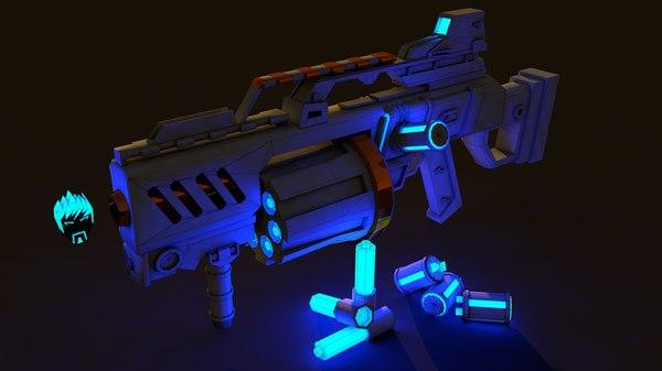 3D sici-fi weapon