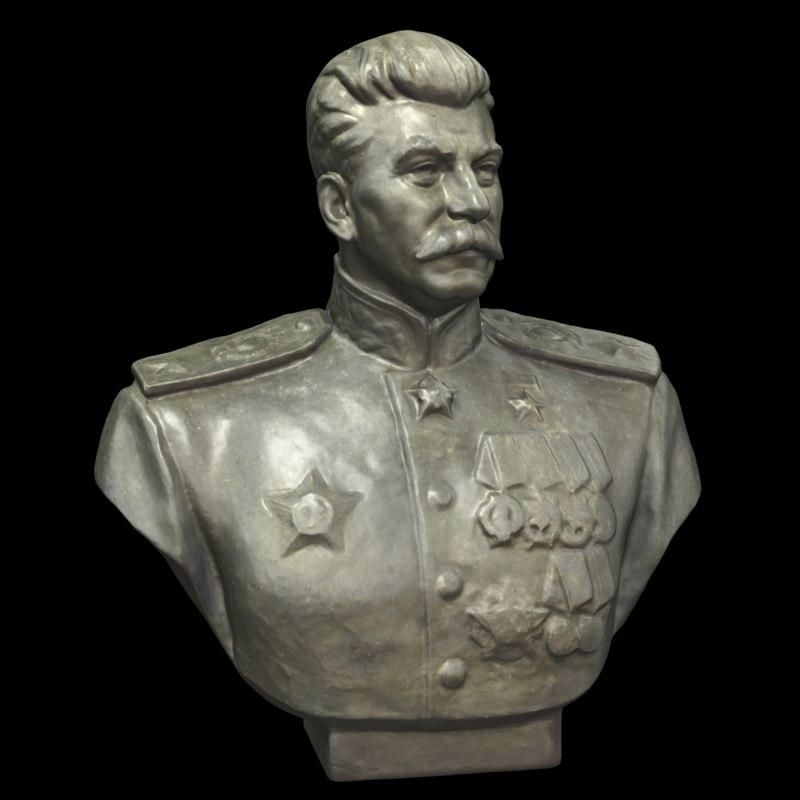 3D sculpture stalin model