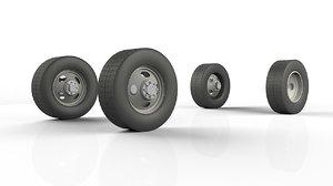 truck wheels 3D