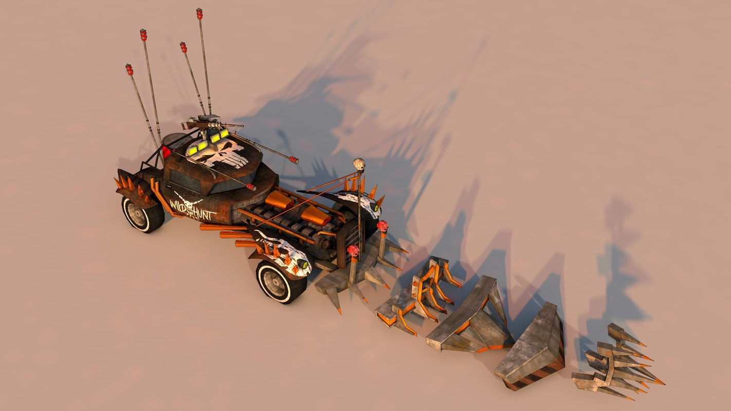 battle car 1 3D model
