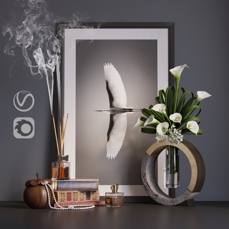 3D decor set calla