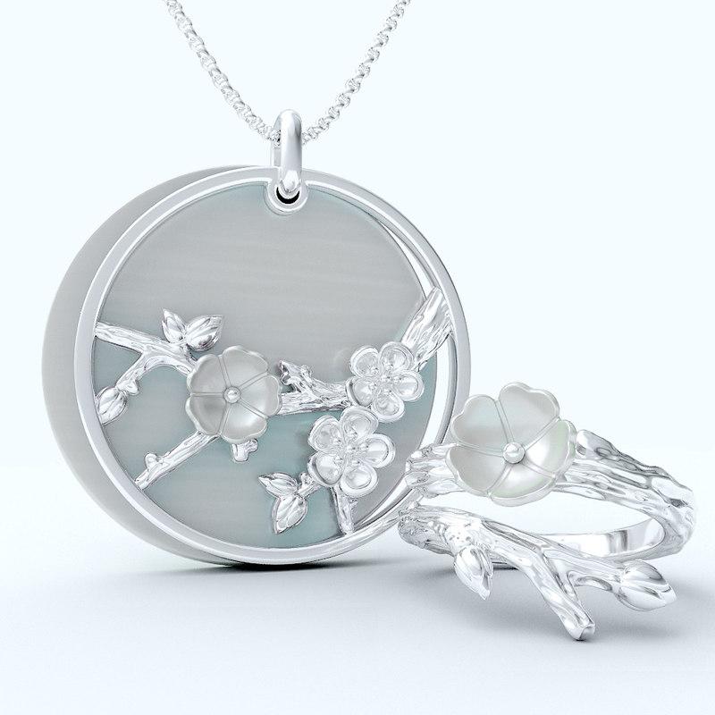3D set jewelry