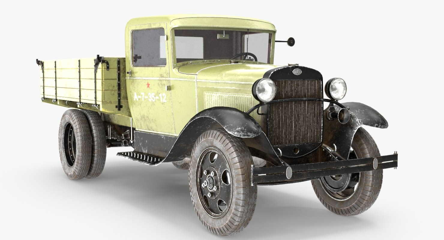 gaz-aa lorry 3D model