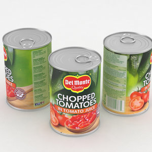 food tomatoe chopped 3D model