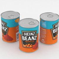 3D food bean model