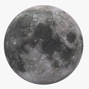 3D moon puzzle