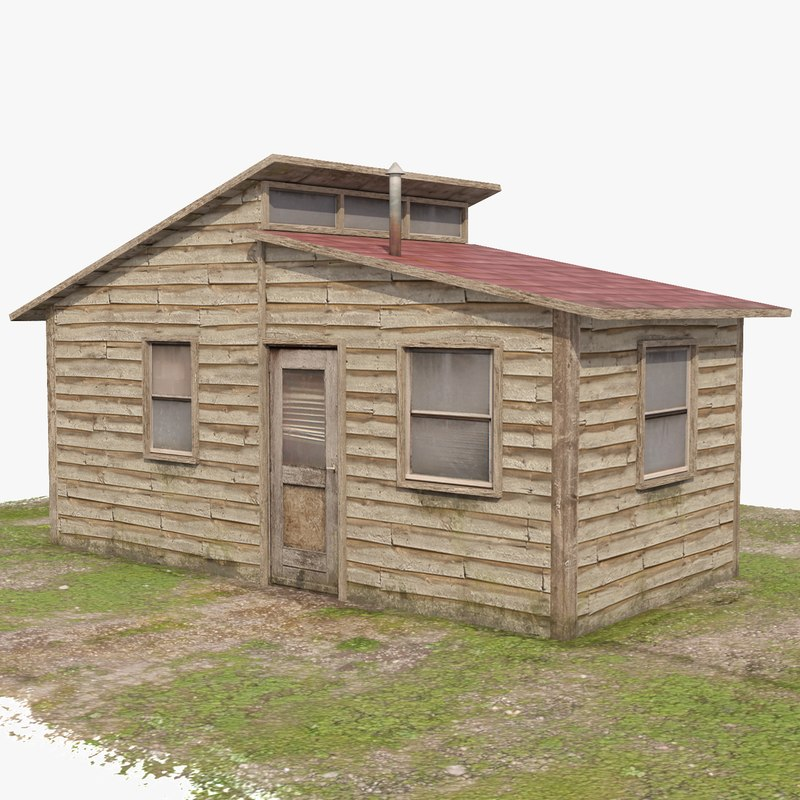 3D small house - trailer-wide
