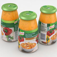 jar knorr sauce 3D