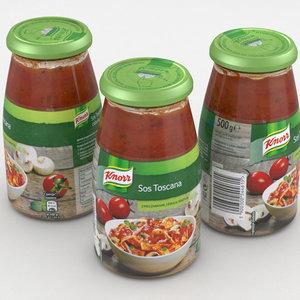 3D model jar knorr sauce