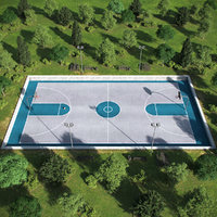Basketball Outdoor Court 03