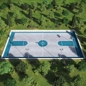 outdoor basketball court model