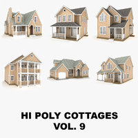 hi-poly cottages vol 9 3D