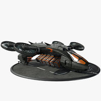 futuristic dropship model