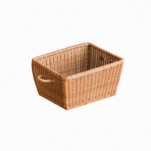 rattan basket 3D model