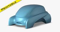 3D ev concept car model