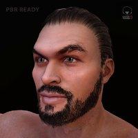 3D model jason momoa pbr