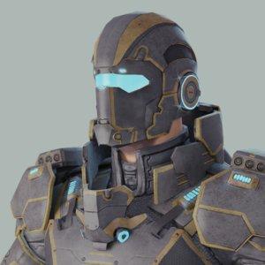 3D sci-fi hero