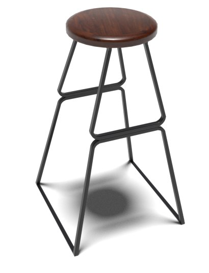 painted stool chair 3D model