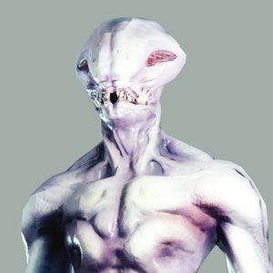 3D slimy alien model