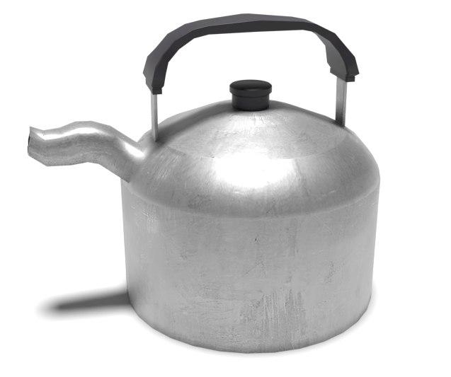 3D model pbr kettle