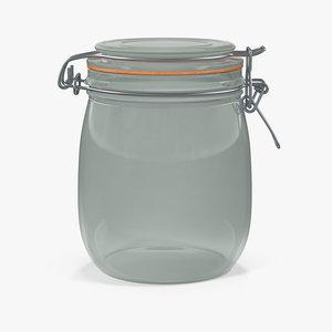 3D glass jar lock 06