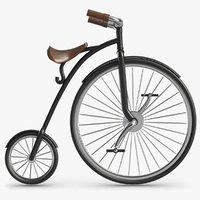 3D retro bicycle model