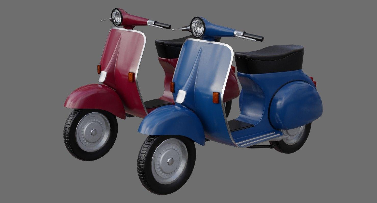 3D motor scooter 1a model