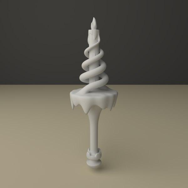 3D candlestick snakes