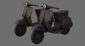 3D model motor scooter 1c