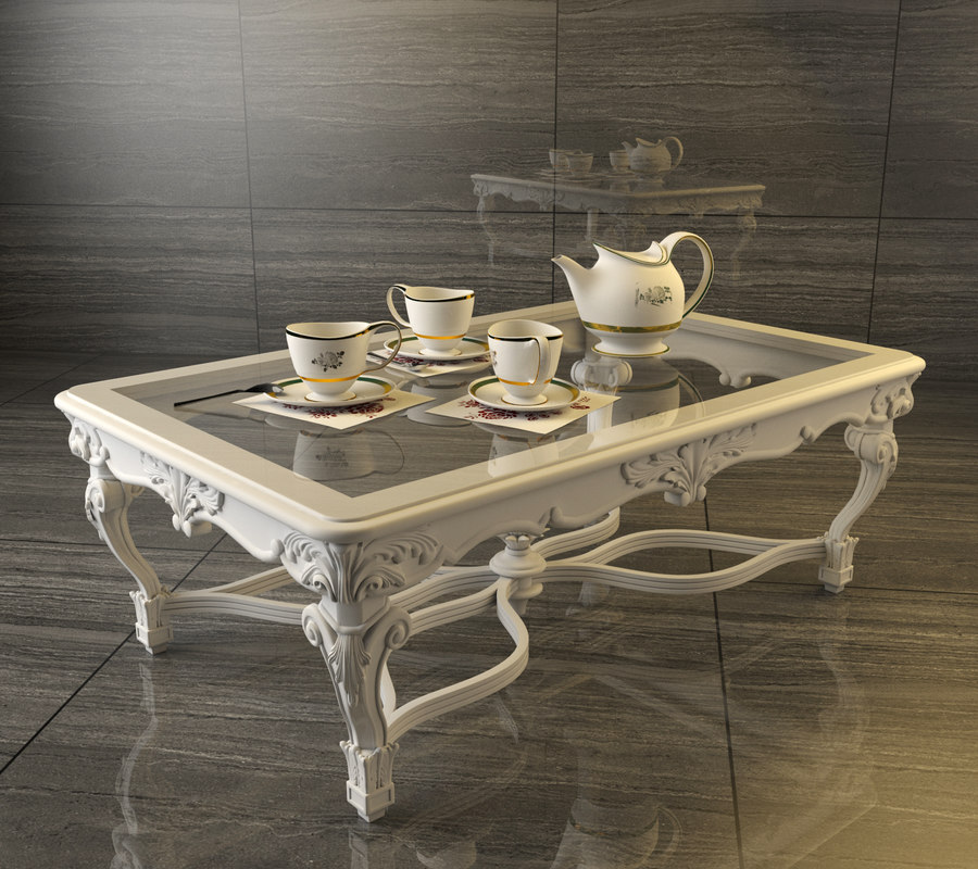 3D classic coffee table