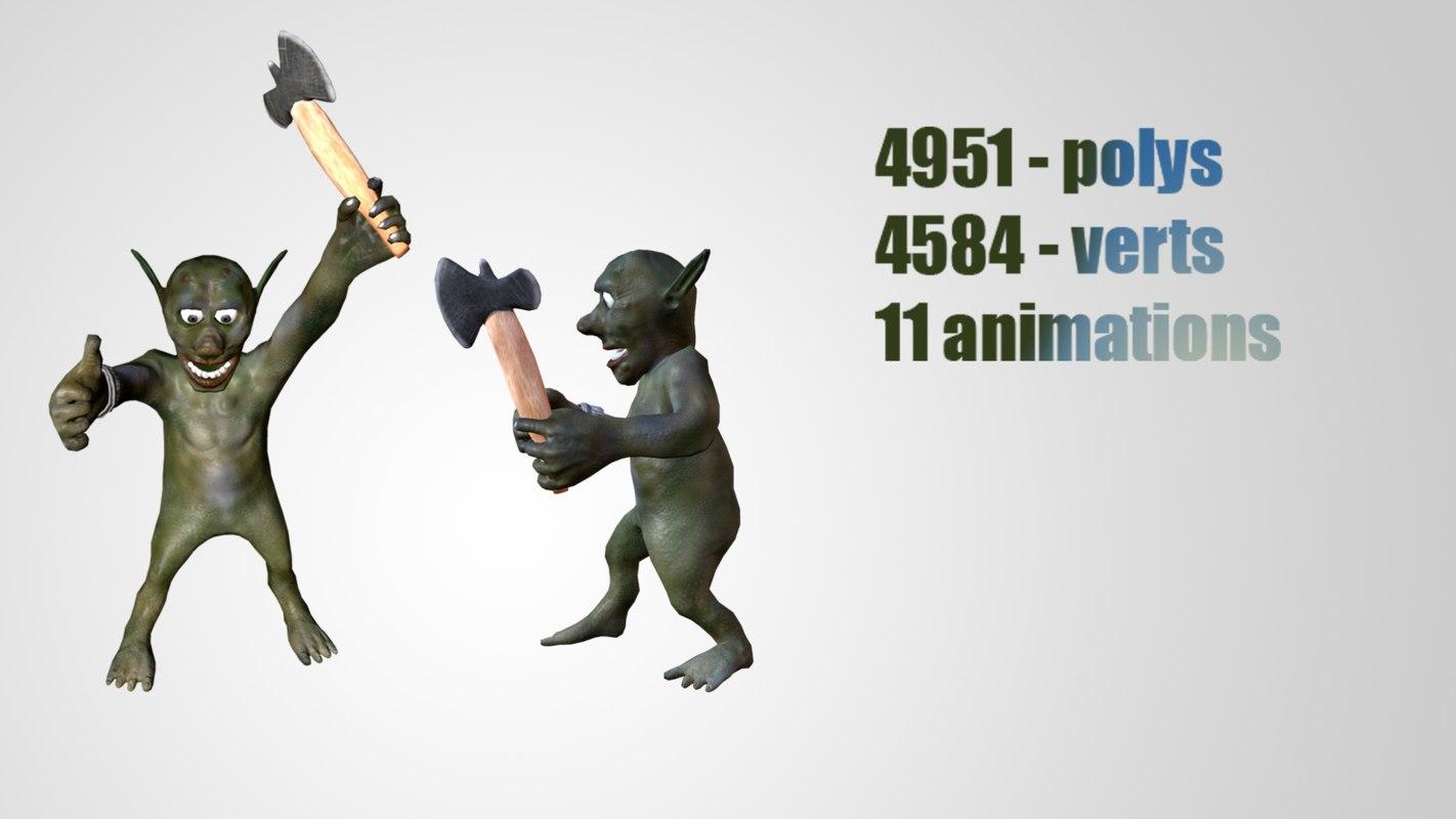 fantastic character ax 3D