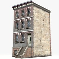 3D townhouse games model