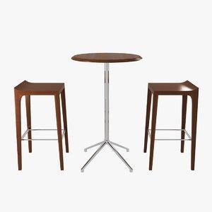 table bernhardt design vanish 3D model