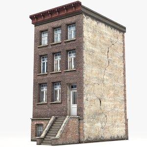 3D townhouse games model