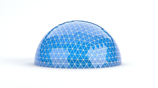 geodesic large dome 3D model