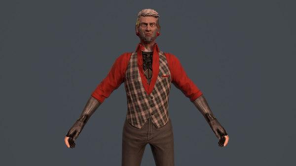 3D gunman animations