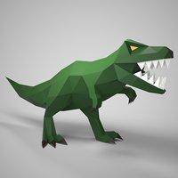 3D tyrannosaurus papercraft