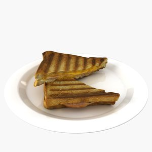 ham cheese sandwich 3D