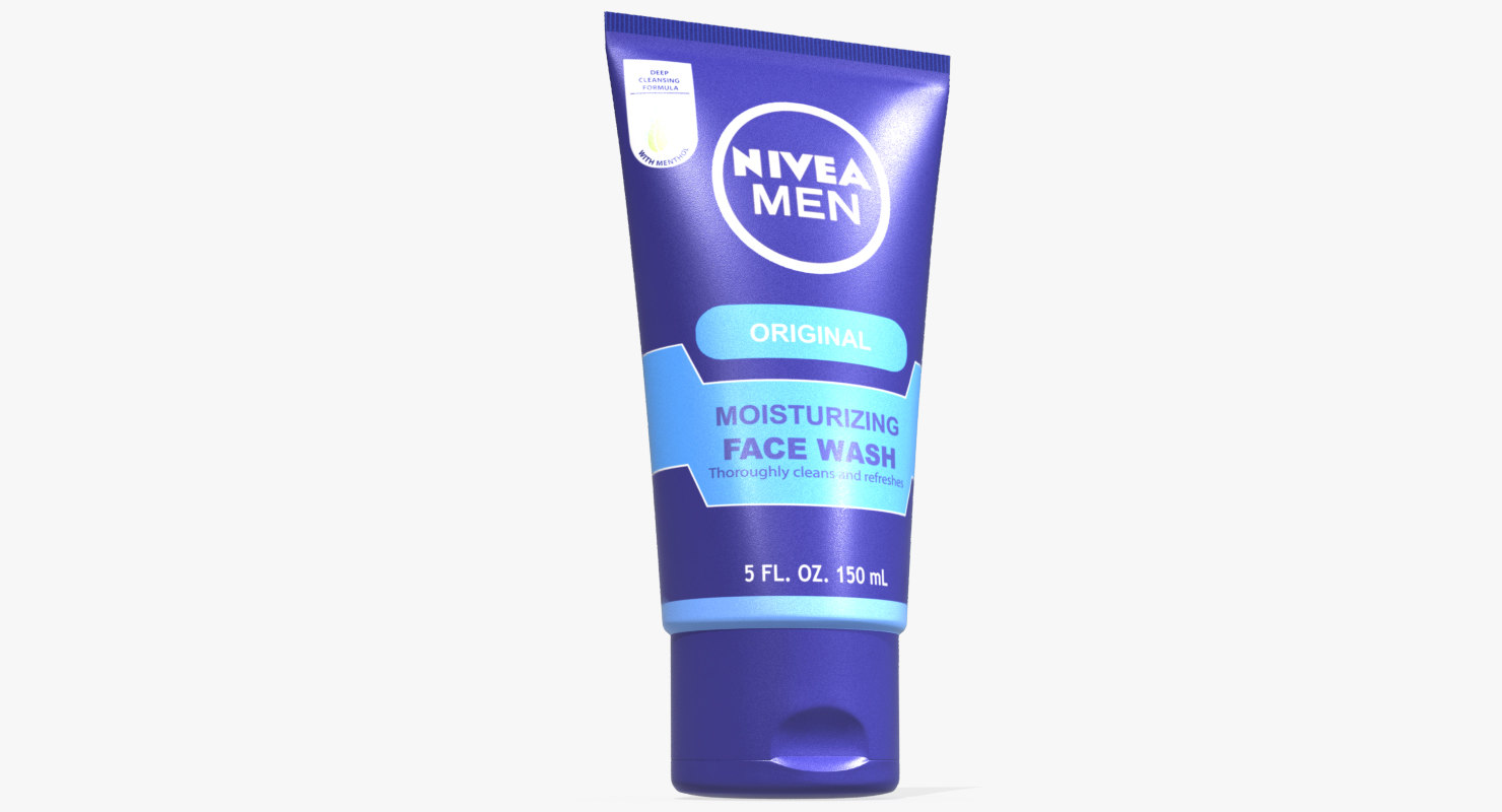 3D nivea moisturizing face wash model