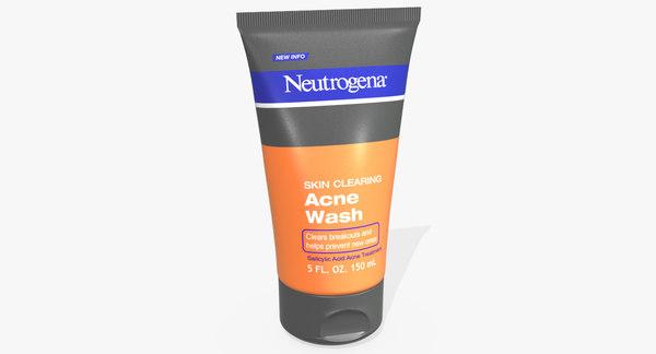 neutrogena skin clearing acne 3D model