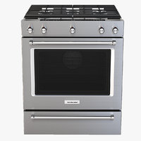 Whirlpool Photorealistic 30 Inch 5 Burner Gas Slide In Convection Range Oven KSGG700ESS