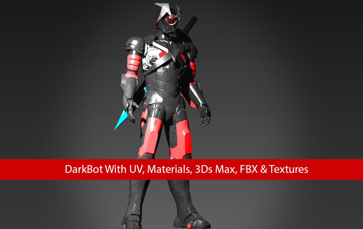 3D darkbot robot dark