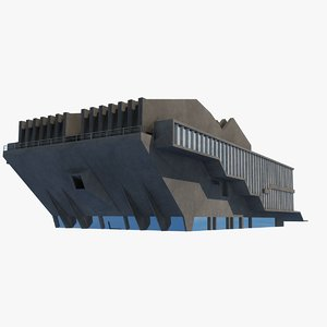 soviet building angular 3D model