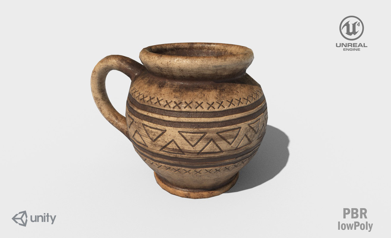 ancient pot 3D model