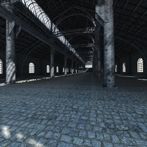 3D old factory interior