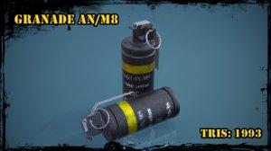 3D model granade m8