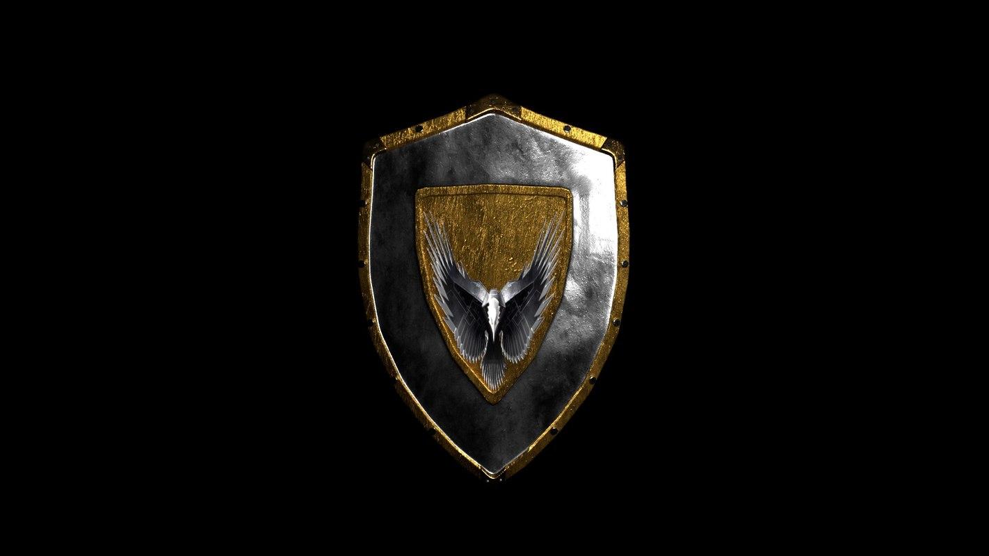 shield dae stl 3D model